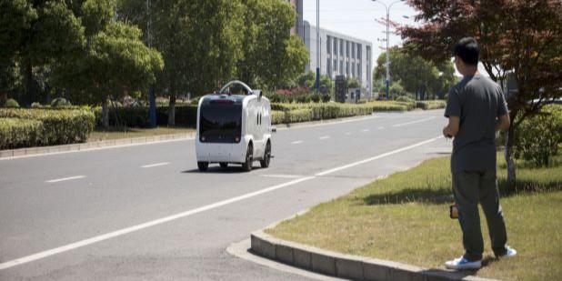 Startup di China Produksi Massal Mobil Otonom Pengirim Barang