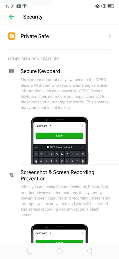 private safe Oppo F11