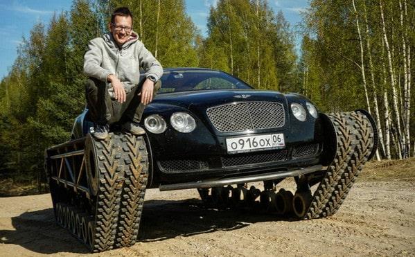 Edan! Pria Ini Modifikasi Bentley Jadi Ultratank
