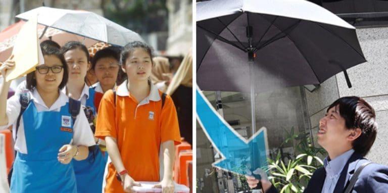 """Unik, Payung Ini Dilengkapi Kipas dan """"Kabut Air"""""""