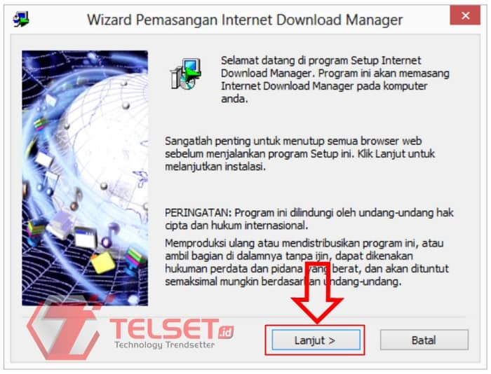 Install IDM Terbaru di pc