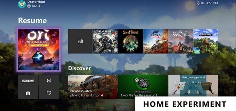 Microsoft Uji Desain Home Screen Baru untuk Xbox One