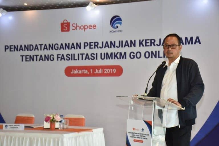 Kominfo Gandeng Shopee untuk Fasilitas UMKM Go Online