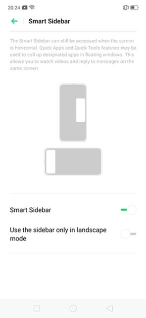 Smart Sidebar oppo reno