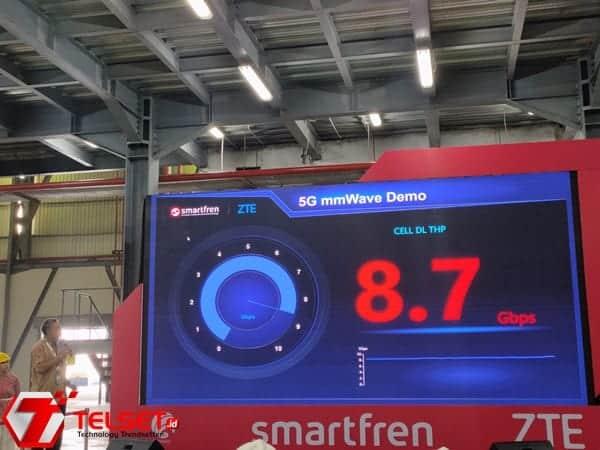 Diuji Coba, Kecepatan Internet 5G Smartfren Capai 8,7 Gbps