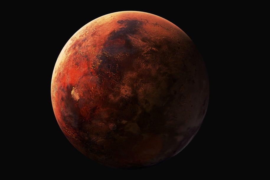 Semburan aneh di planet Mars