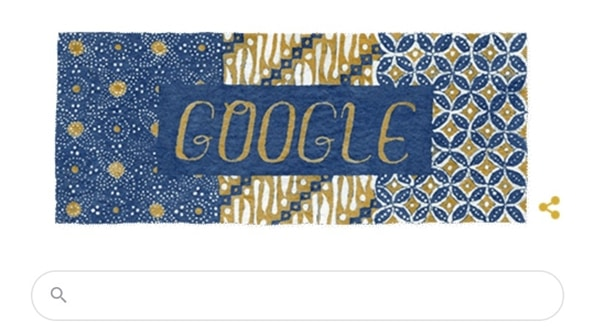 Google Doodle Peringati Hari Batik Nasional