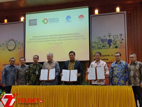 Sah! Aturan IMEI Resmi Ditandatangani Tiga Kementerian