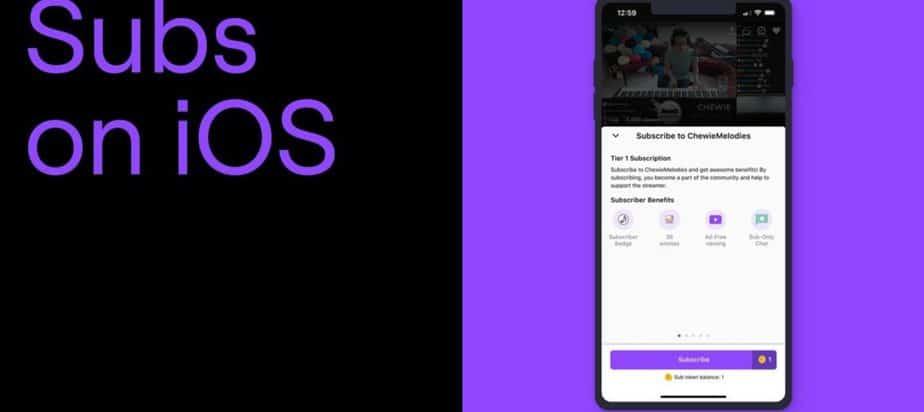Twitch di iOS