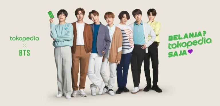 Sah! BTS Jadi Brand Ambassador Tokopedia
