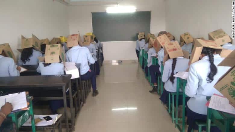 siswa mencontek