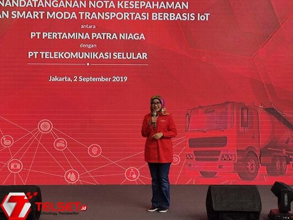 Direktur Utama Telkomsel Emma Sri Martini