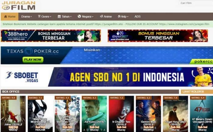 Juragan Film situs pengganti IndoXXI