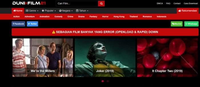 Link terbaru LayarKaca21 DuniaFilm21
