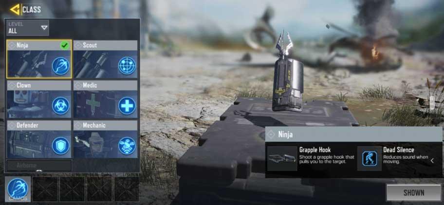 Class COD Mobile Ninja