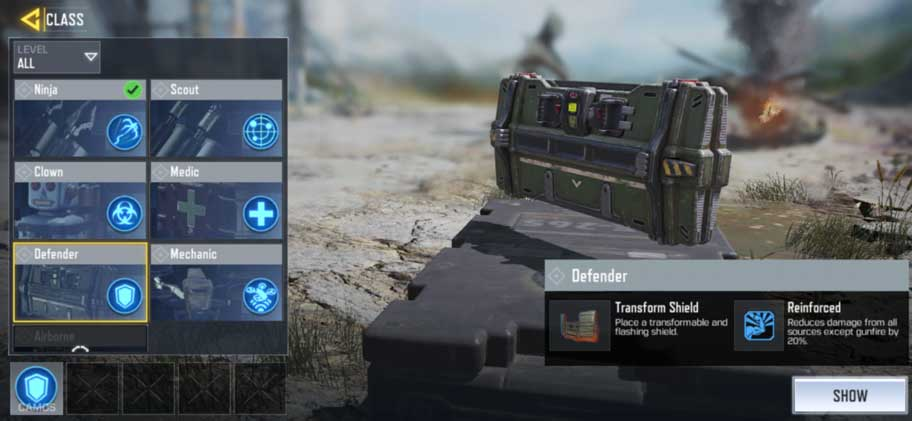 Class COD Mobile Defender
