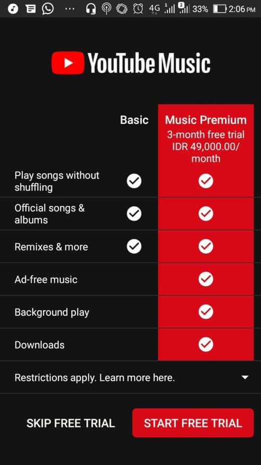 Tips Dapat 3 Bulan Gratis Youtube Music Premium