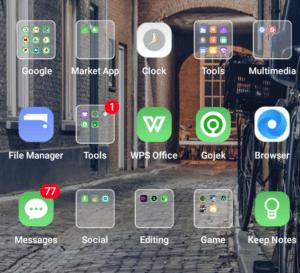 Tampilan Ponsel Android
