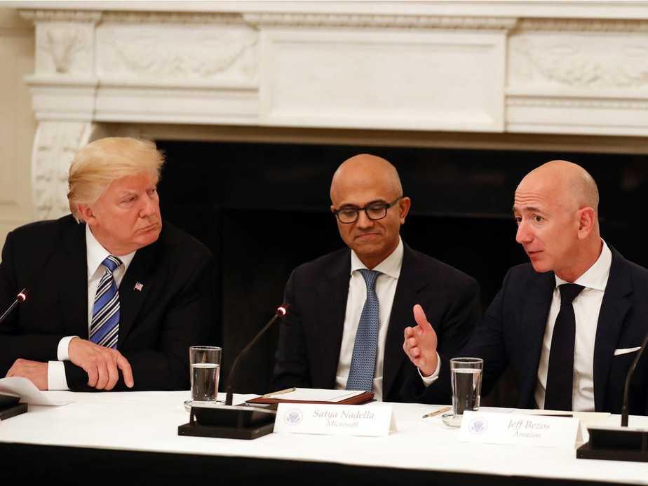 Amazon Salahkan Donald Trump