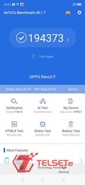 benchmark Oppo Reno2 F