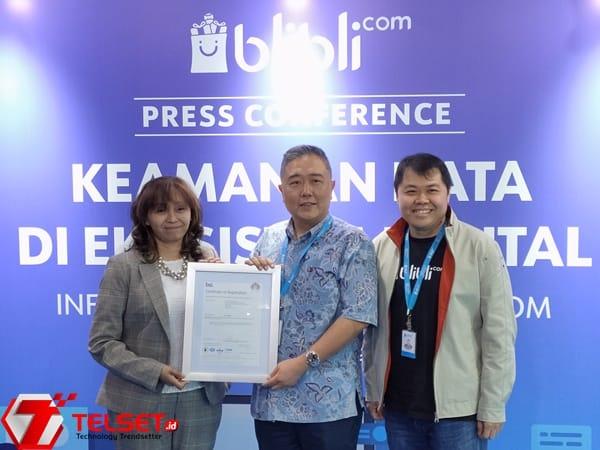 Blibli Kantongi Sertifikat ISO 27001 untuk Standar Keamanan Data