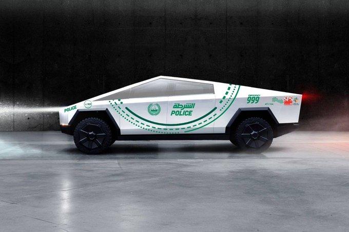 Polisi Dubai Pilih Tesla Cybertruck untuk Cari Penjahat