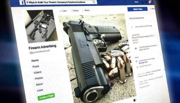 Iklan Senjata di Facebook