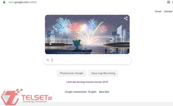 """""""Katak Google"""" Ikut-ikutan Ramaikan Perayaan Tahun Baru"""