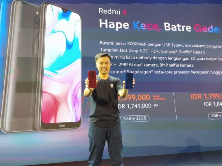 Smartphone Redmi 8 dan Redmi 8A Rilis di Indonesia