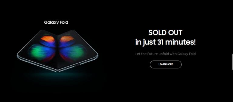 Samsung Galaxy Fold Ludes dalam 31 Menit di Indonesia