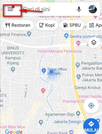 Mengaktifkan Speedometer Google Maps