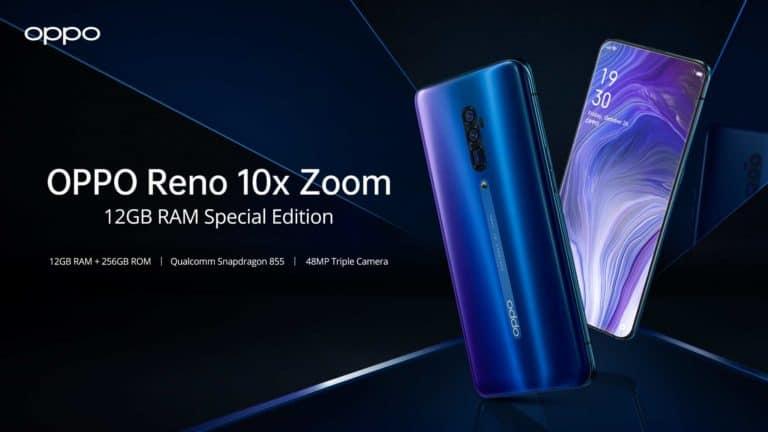 Oppo Reno 10X Zoom Lebih Gahar dengan RAM 12GB