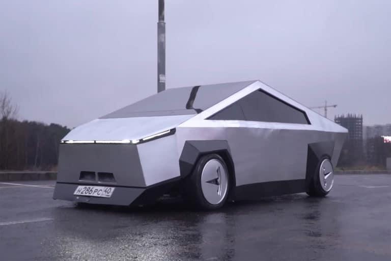 YouTuber Rusia Bikin Replika Tesla Cybertruck, Harganya?