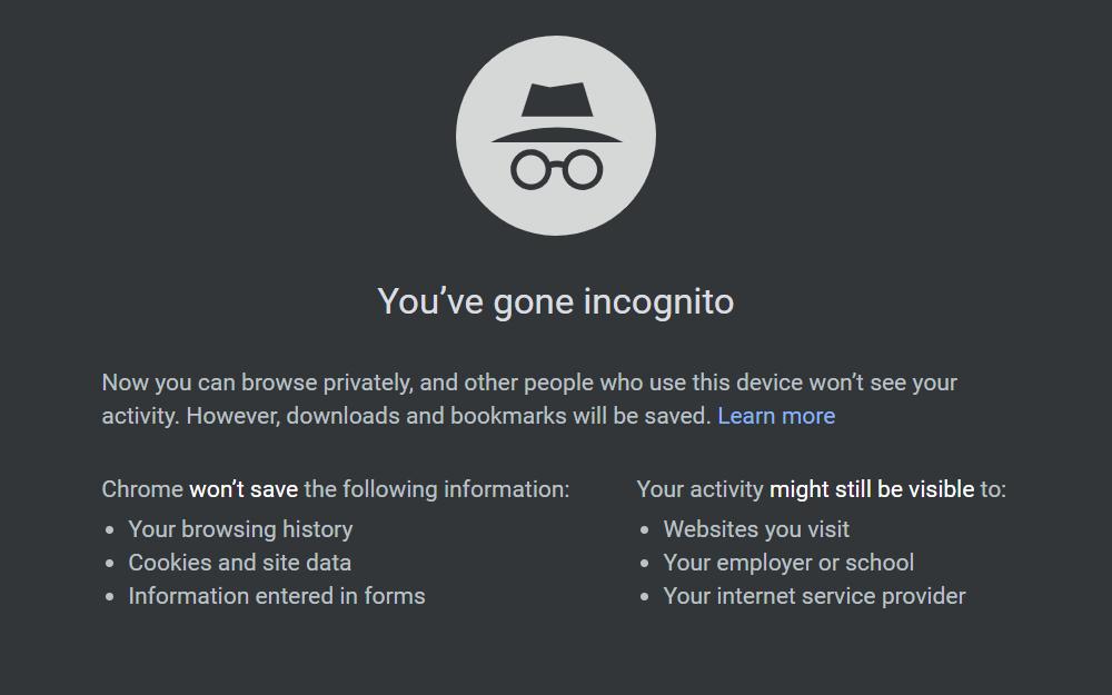 Incognito Mode Android