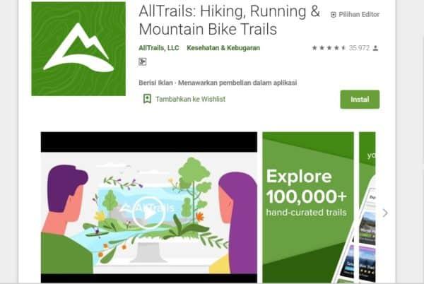 Aplikasi Pendaki Gunung AllTrails