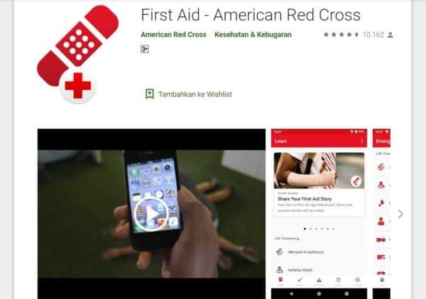 aplikasi untuk mendaki gunung First Aid