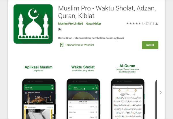 Aplikasi Pendaki Gunung Muslim Pro