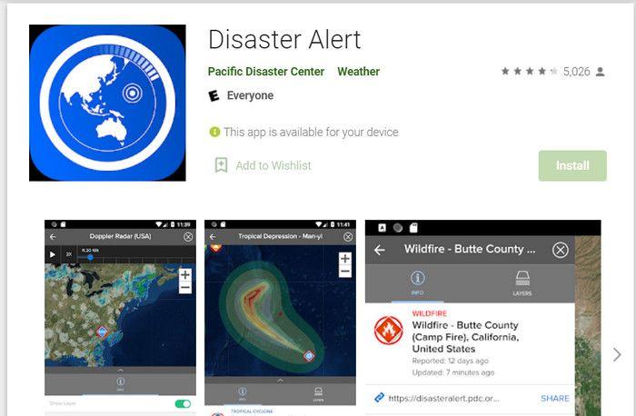 aplikasi untuk mendaki gunung Disaster Alert