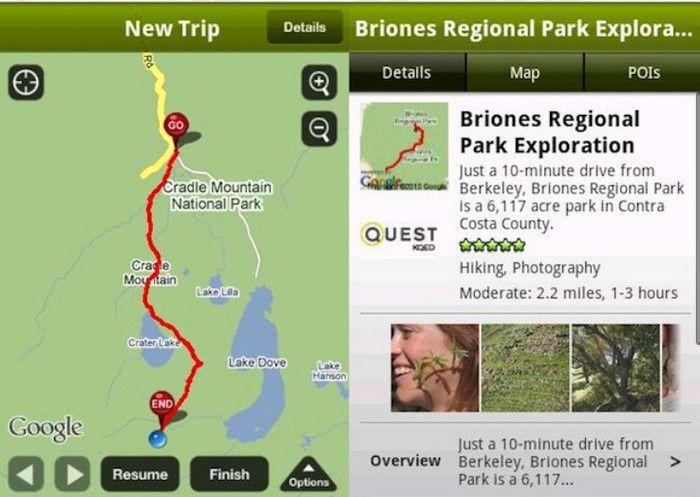 Aplikasi untuk pendaki Every Trail