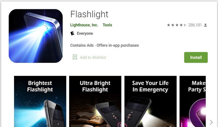 Aplikasi untuk pendaki Flashlight