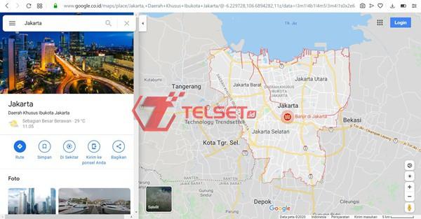 Google Banjir Peta Jakarta