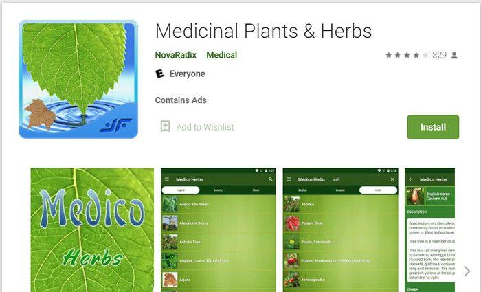 Aplikasi naik gunung Medicinal Plants & Herbs
