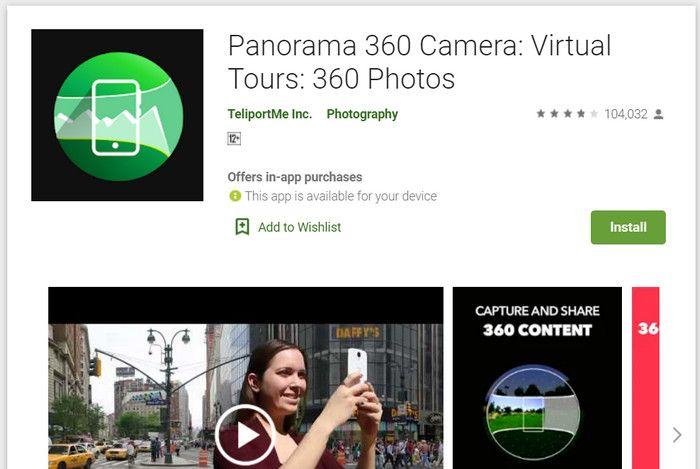 Aplikasi pendakian gunung Panorama 360 Camera