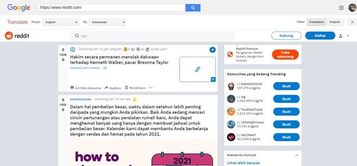 cara membuka web yang diblokir dengan google translate