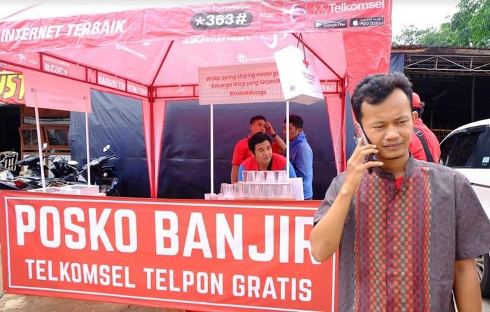 Pasca Banjir Jakarta, Layanan Internet Telkomsel Kembali Normal