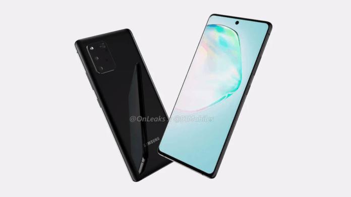 Desain Galaxy Note 10 Lite