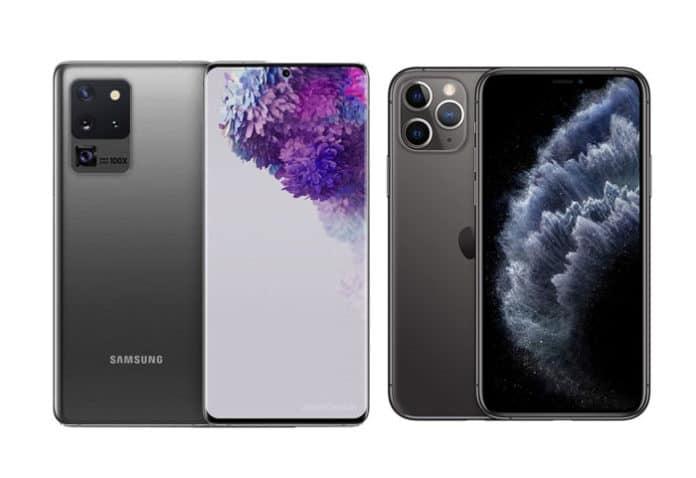 galaxy S20 Ultra vs iPhone 11 Pro