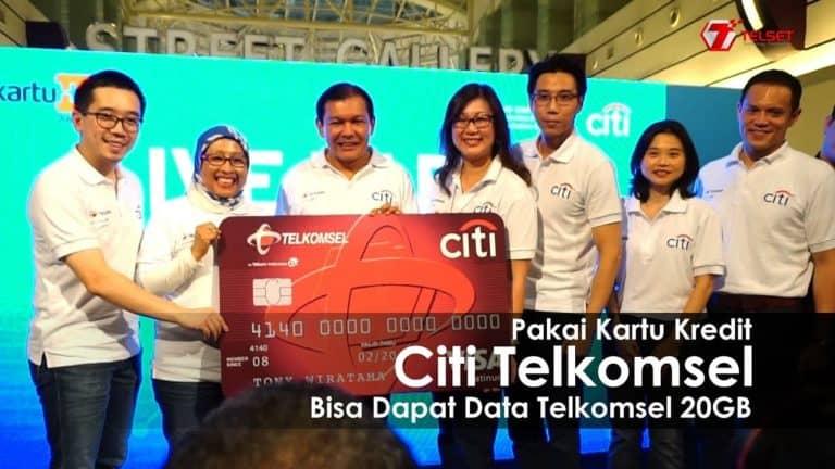Pakai Kartu Kredit Citi Telkomsel Bisa Dapat Data Telkomsel 20GB