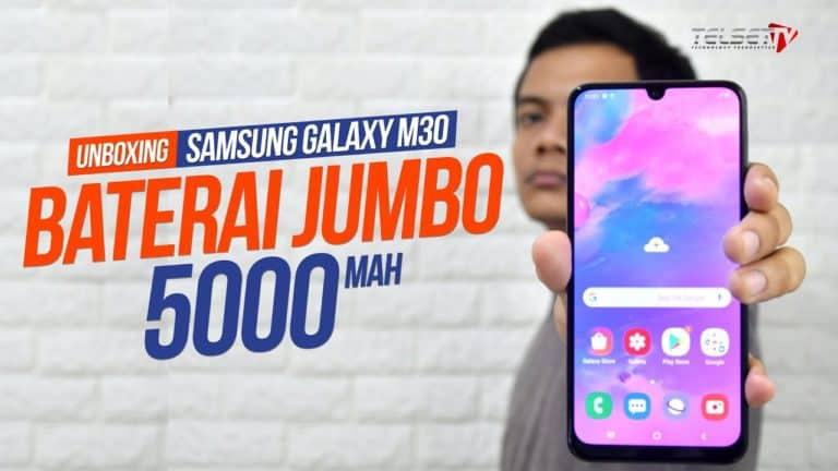 SAMSUNG Galaxy M30 Unboxing, Baterainya 5000 mAh