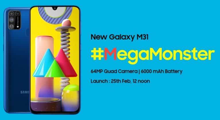 Samsung Galaxy M31 Segera Hadir, Baterainya 6,000 mAh!